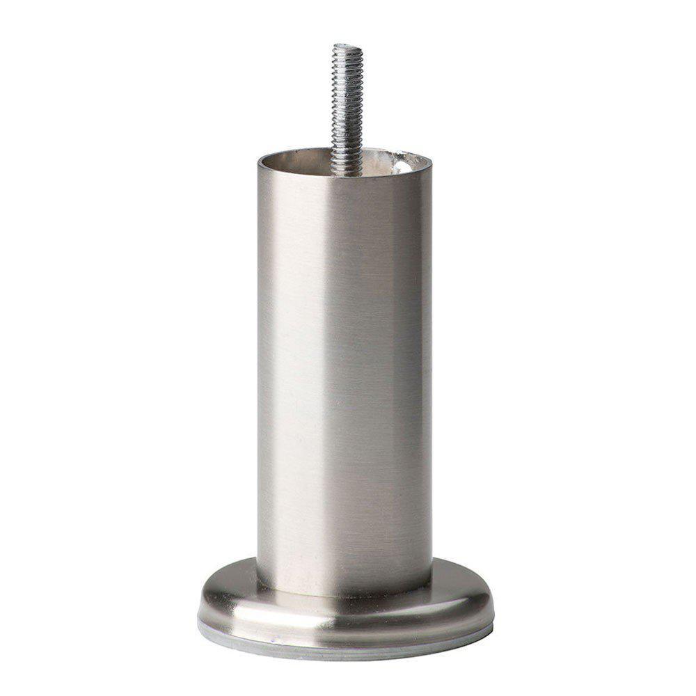 Ronde RVS meubelpoot 14 cm met flens (M8)