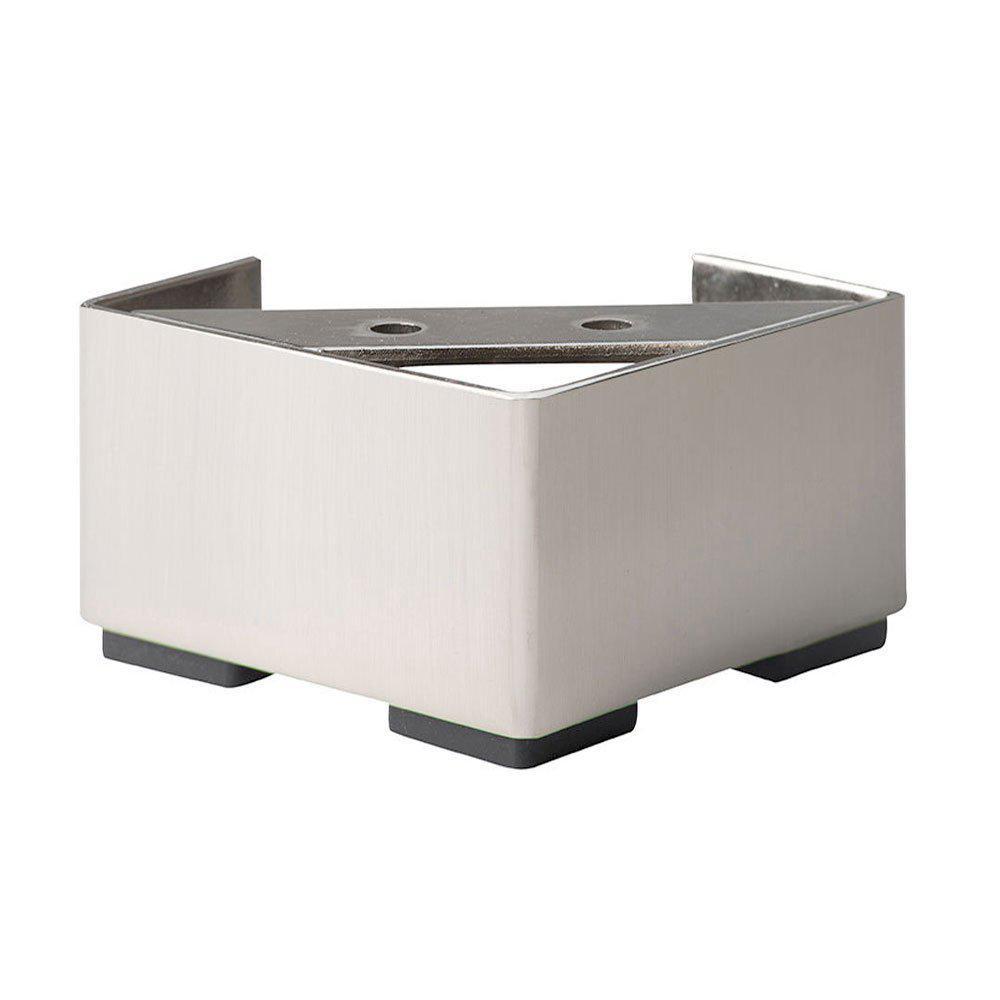 RVS vierkanten meubelpoot 6,5 cm