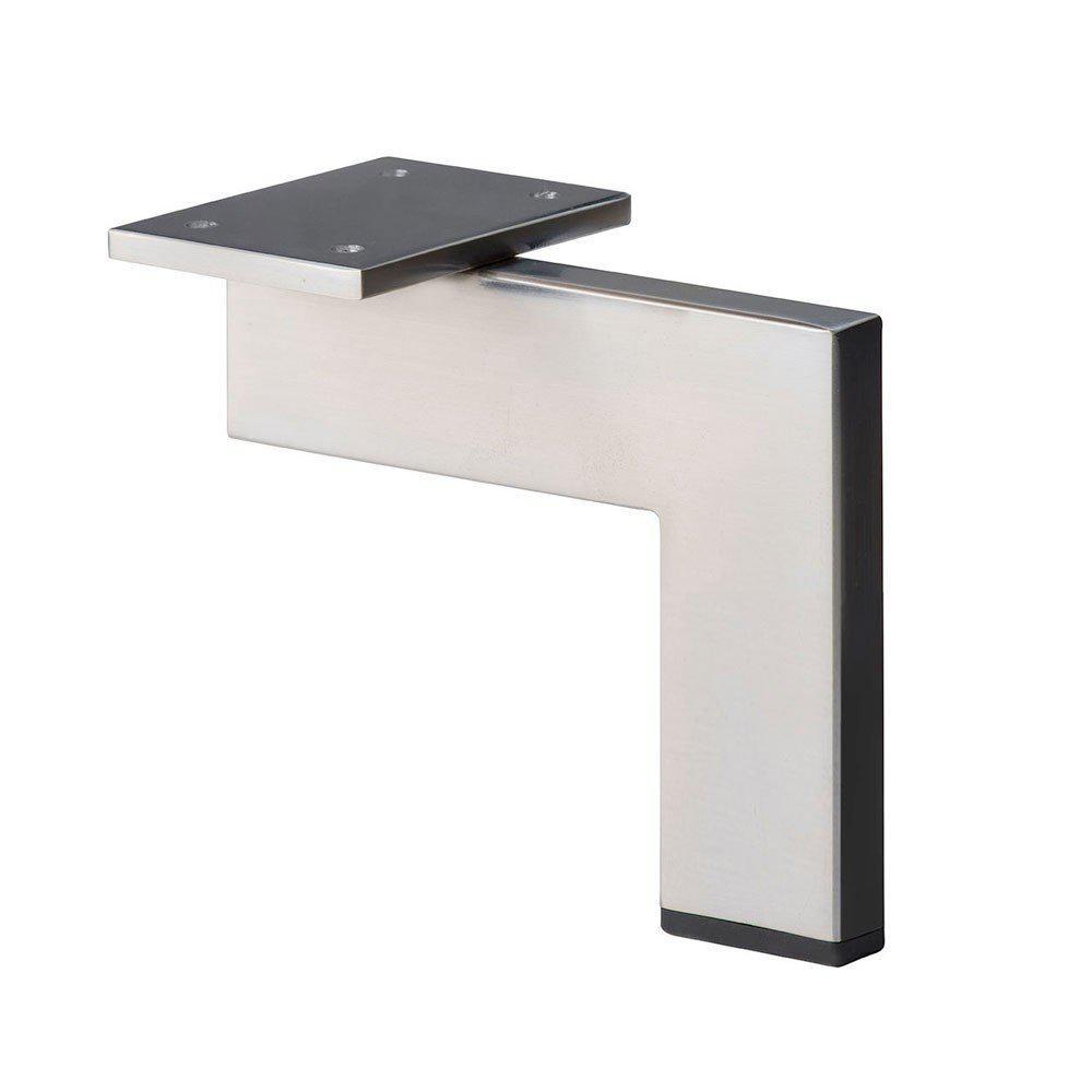 RVS INOX design hoekprofiel meubelpoot 14 cm