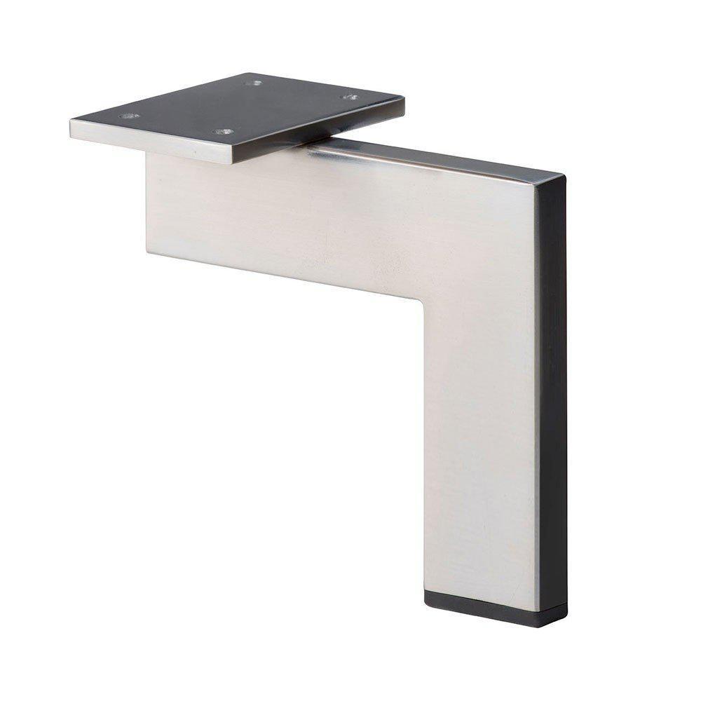 RVS - INOX design hoekprofiel meubelpoot 16 cm