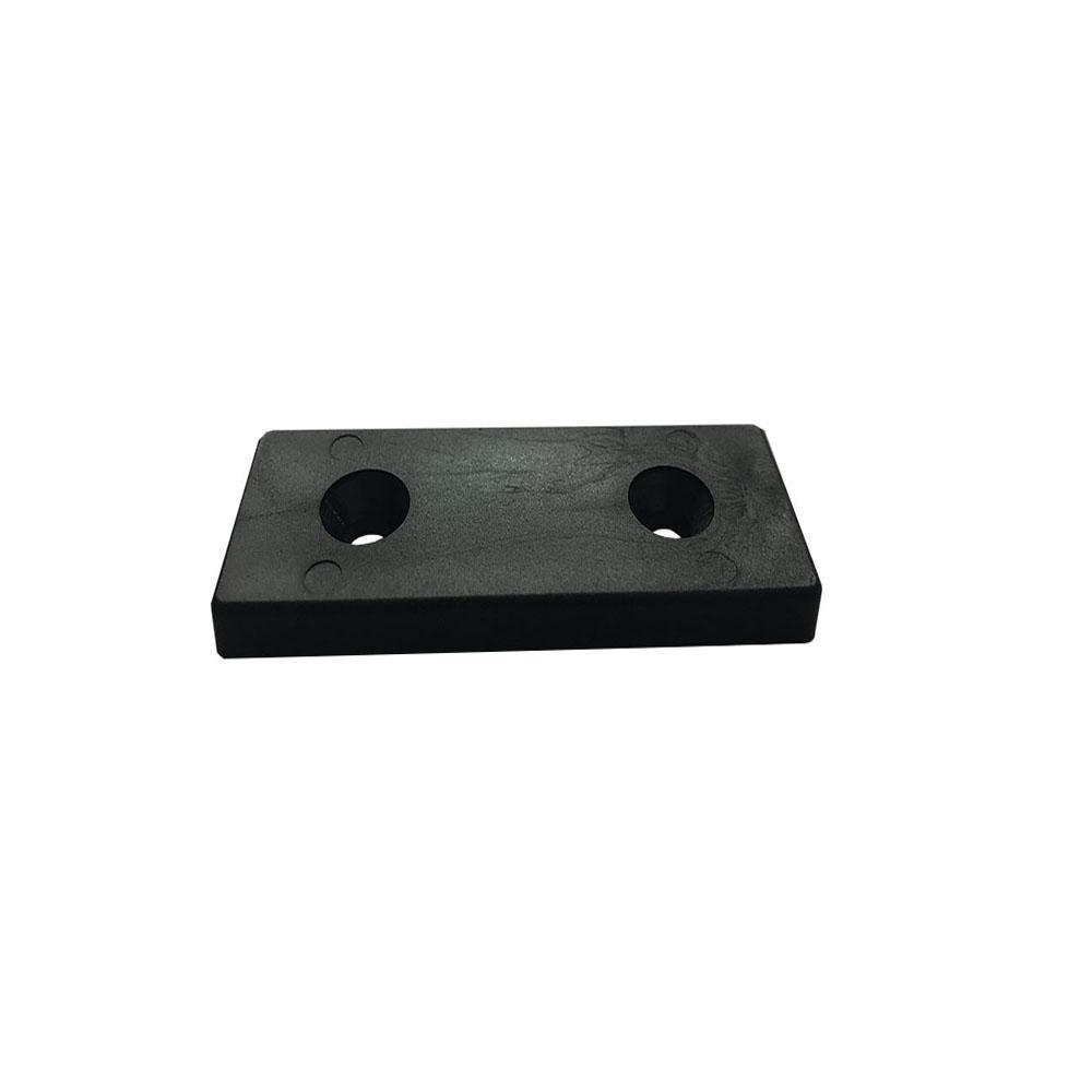 Glijder zwart rechthoek 2 bij 4 cm en 0,8 cm (zakje 8 stuks)