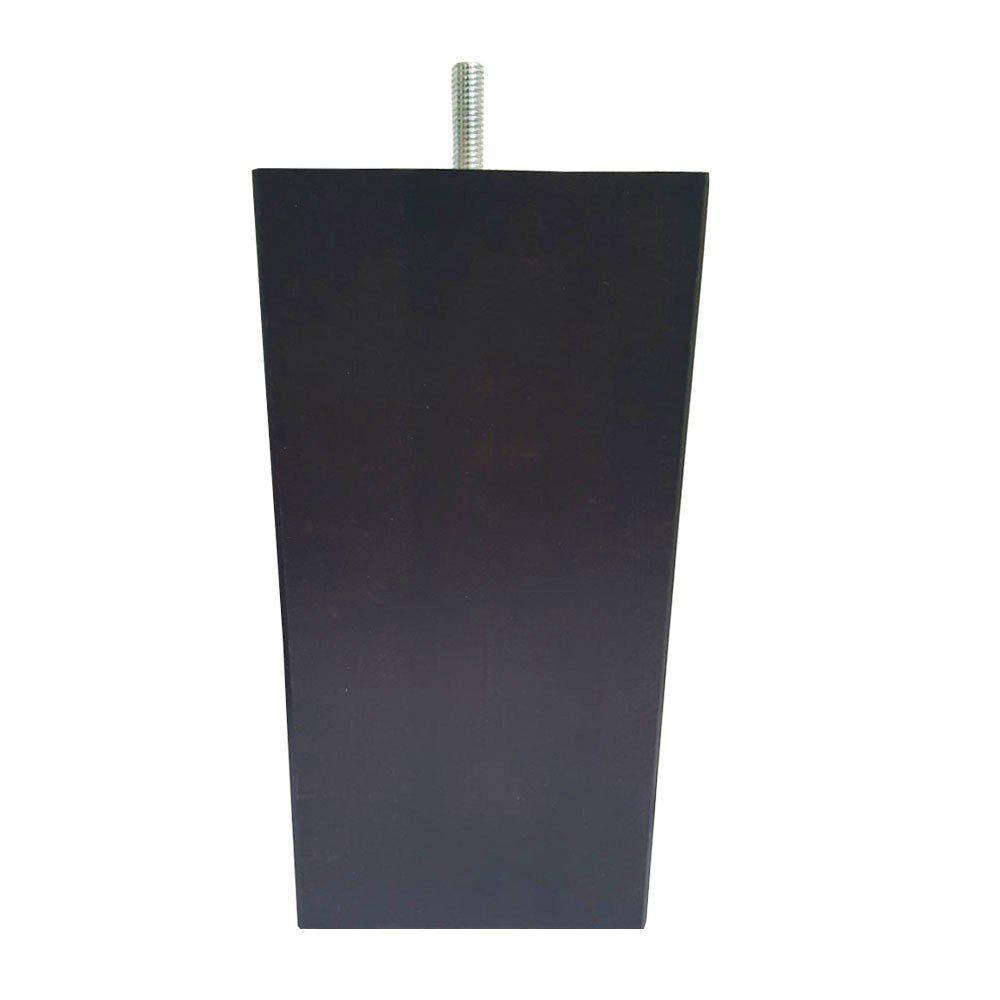 Vierkanten bruine houten meubelpoot 18 cm (M8)