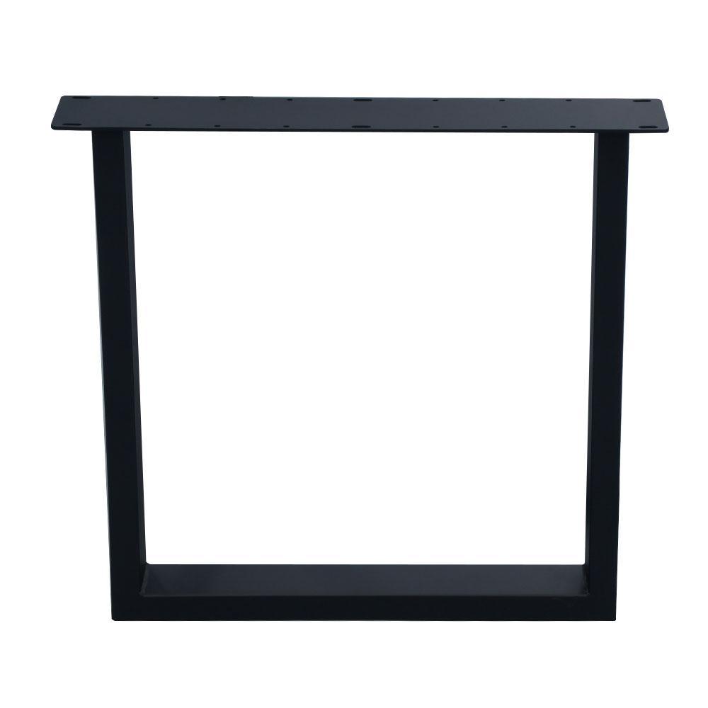Zwarte U tafelpoot 72 cm (koker 10 x 4)