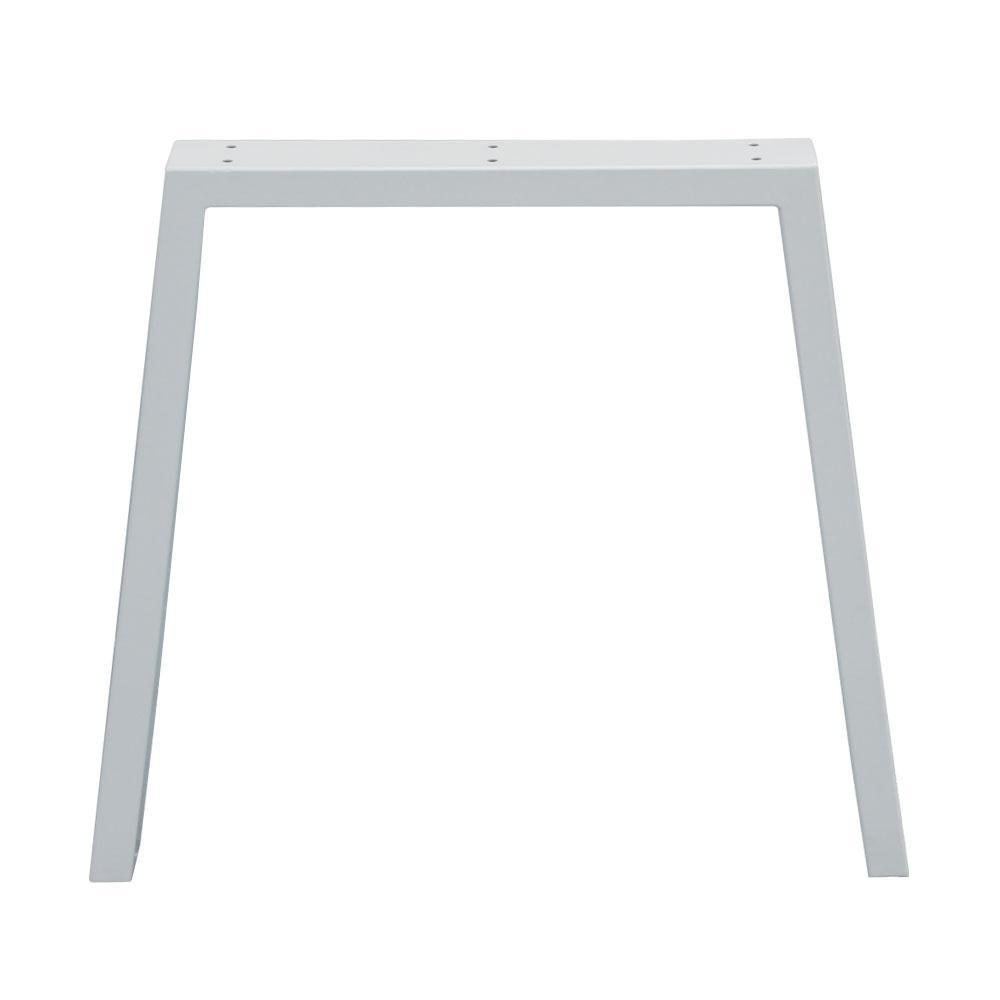 Witte trapezium tafelpoot 72 cm (koker 10 x 4)