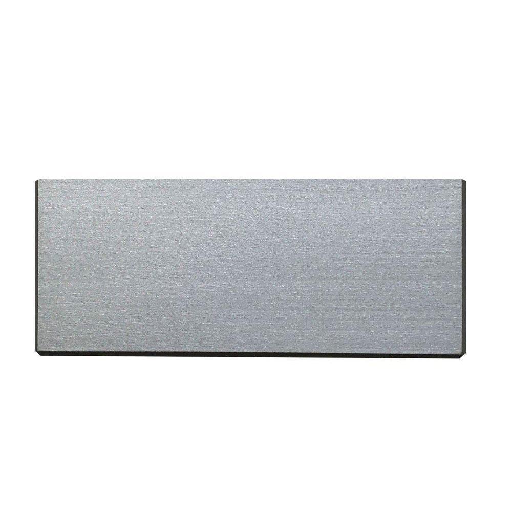 Rechthoekige grijze houten meubelpoot 6 cm