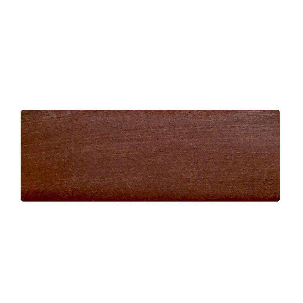 Rechthoekige kersen houten meubelpoot 6 cm