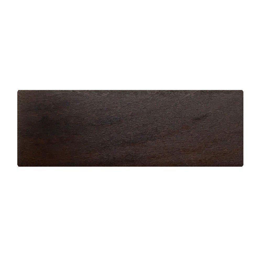 Rechthoekige donkerbruine houten meubelpoot 6 cm