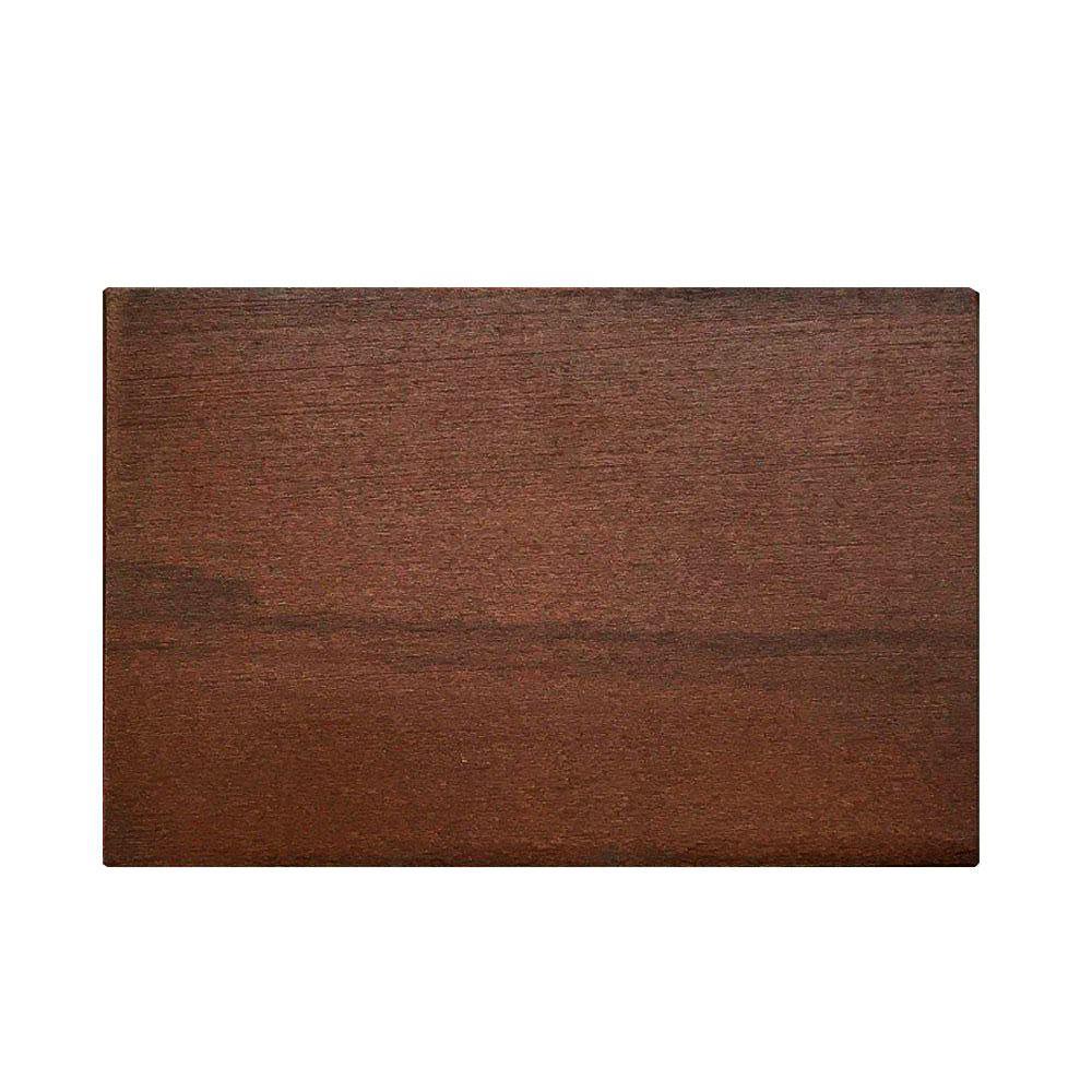 Rechthoekige kersen houten meubelpoot 12 cm