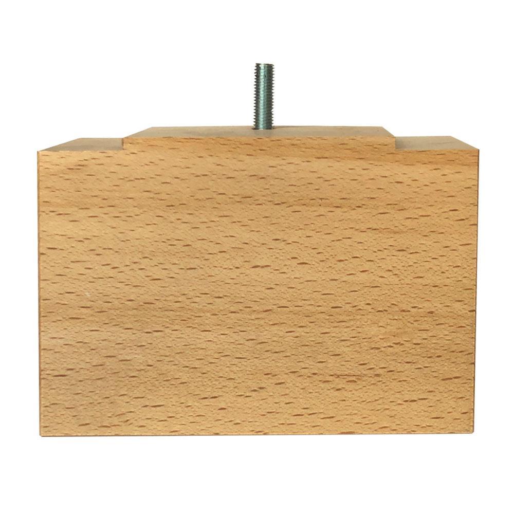Rechthoekige houten meubelpoot 11 cm (M8)