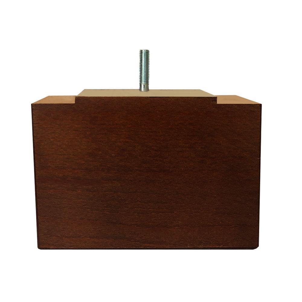 Rechthoekige bruine houten meubelpoot 11 cm (M8)