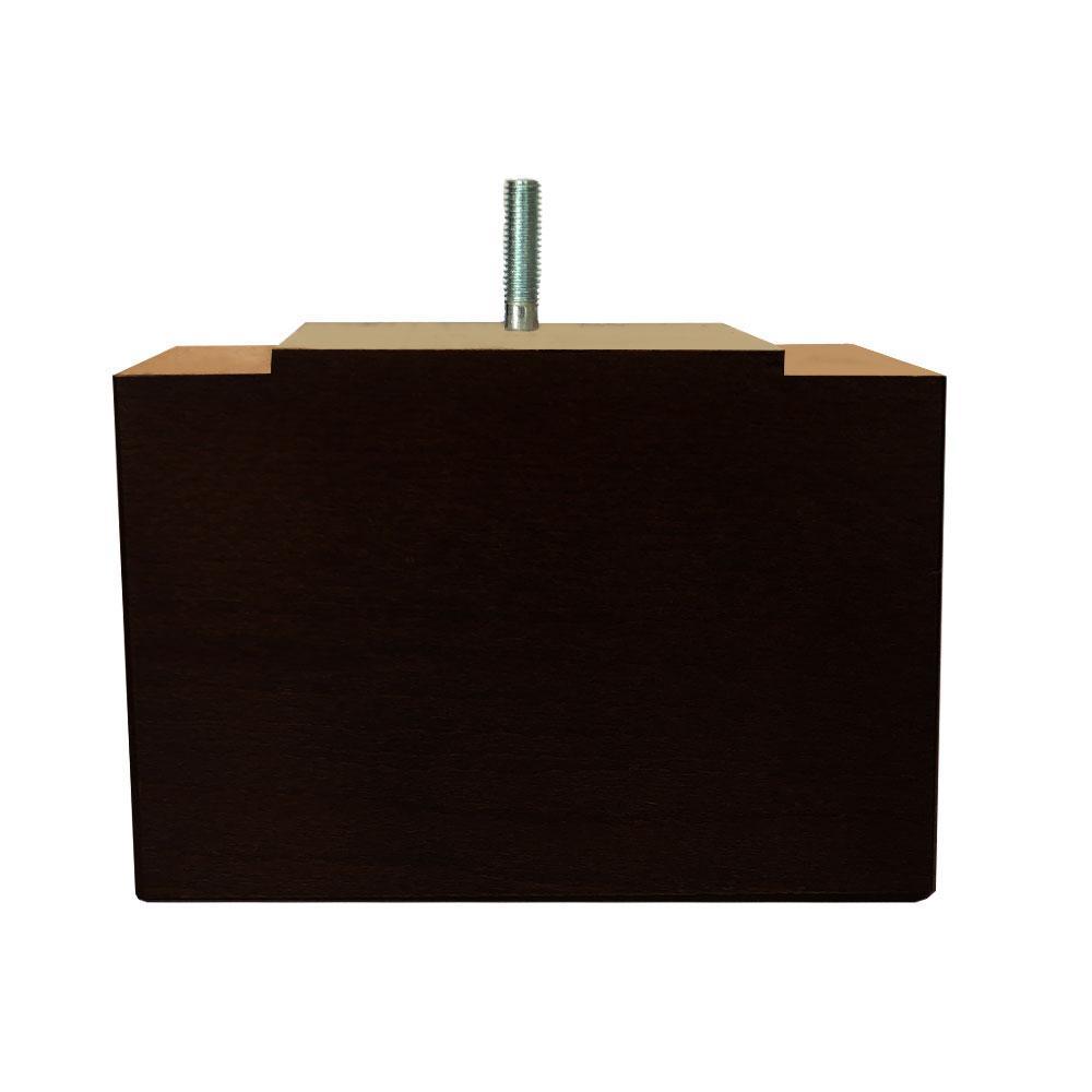 Dagaanbieding - Rechthoekige zwarte houten meubelpoot 11 cm (M8) dagelijkse koopjes