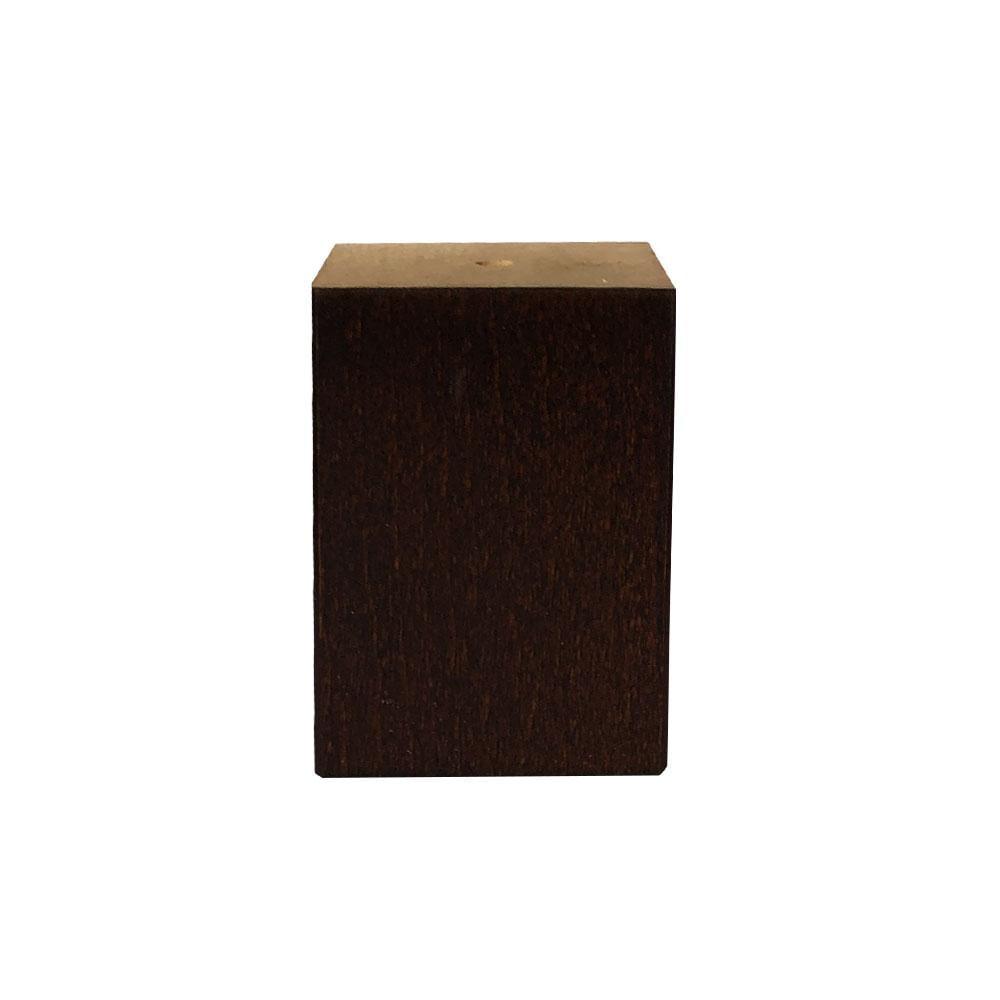 Kleine bruine vierkanten houten meubelpoot 7 cm