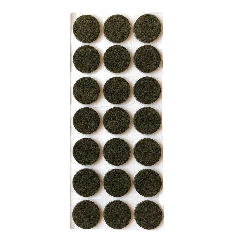Bruine viltschijf rond diameter 3,5 cm (21 stuks)