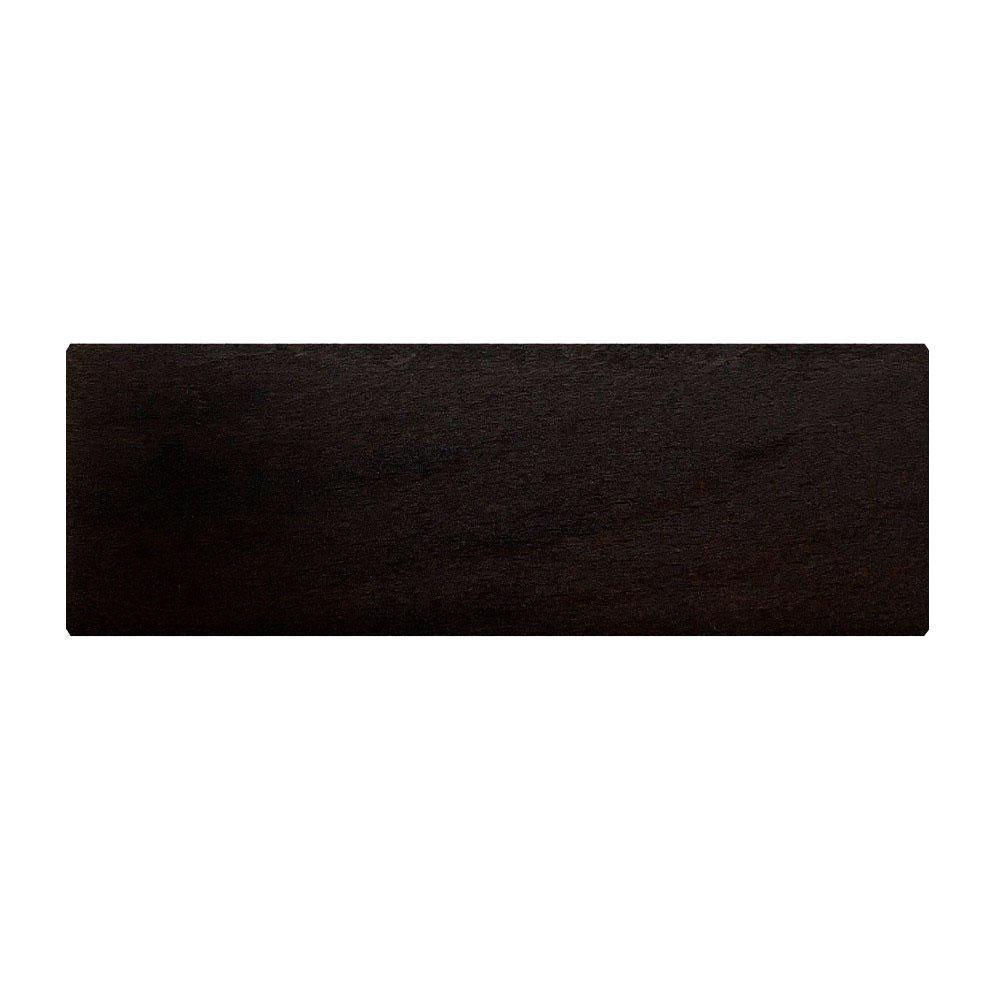 Rechthoekige zwarte houten meubelpoot 6 cm