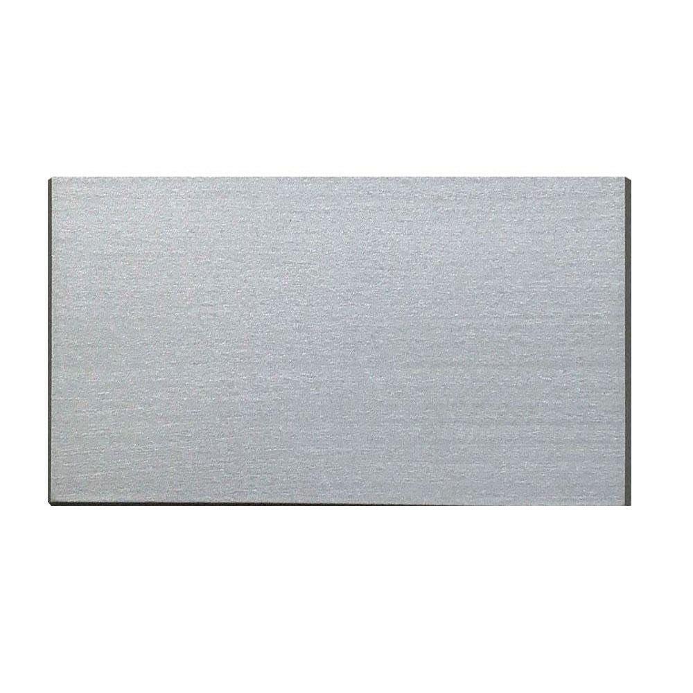 Rechthoekige grijze houten meubelpoot 11 cm