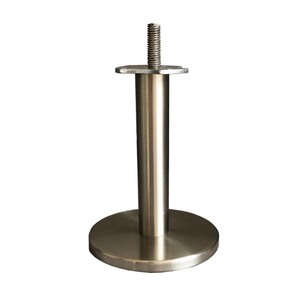 Dagaanbieding - RVS / INOX ronde meubelpoot 14 cm (M10) dagelijkse koopjes