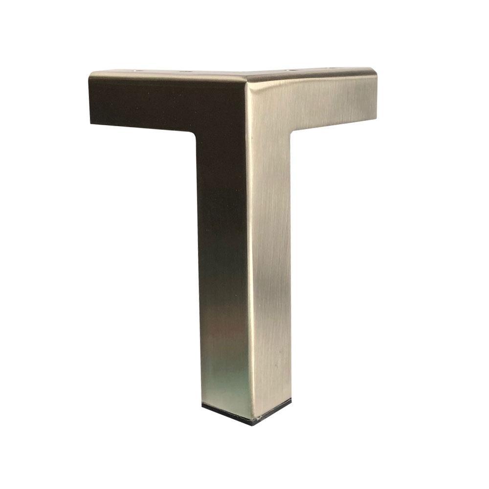 RVS design hoekpoot 15 cm