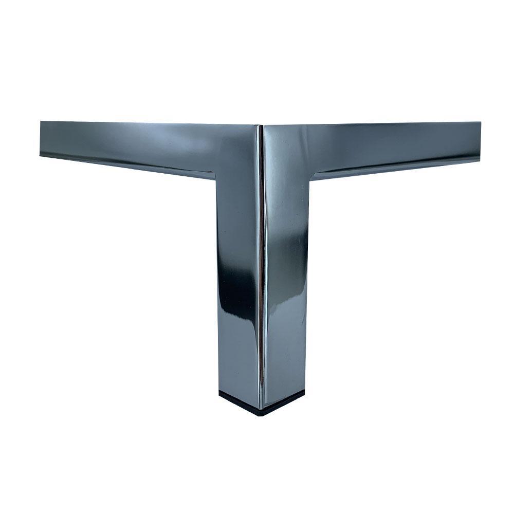 Chromen design hoekpoot 12,5 cm