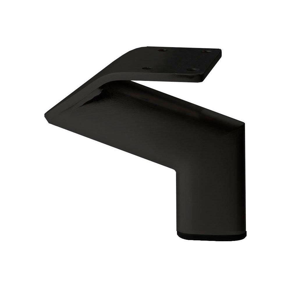 Zwarte design meubelpoot 10 cm
