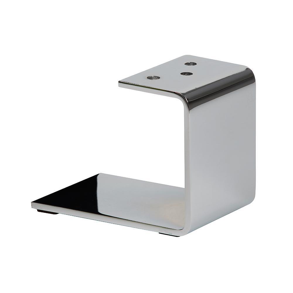Chromen u-profiel meubelpoot 15 cm