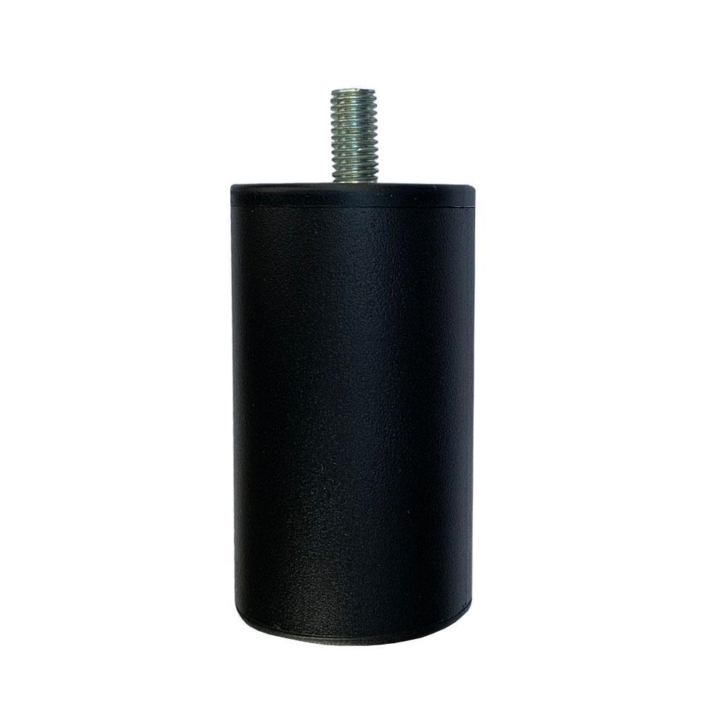 Ronde zwarte meubelpoot 9 cm (M10)