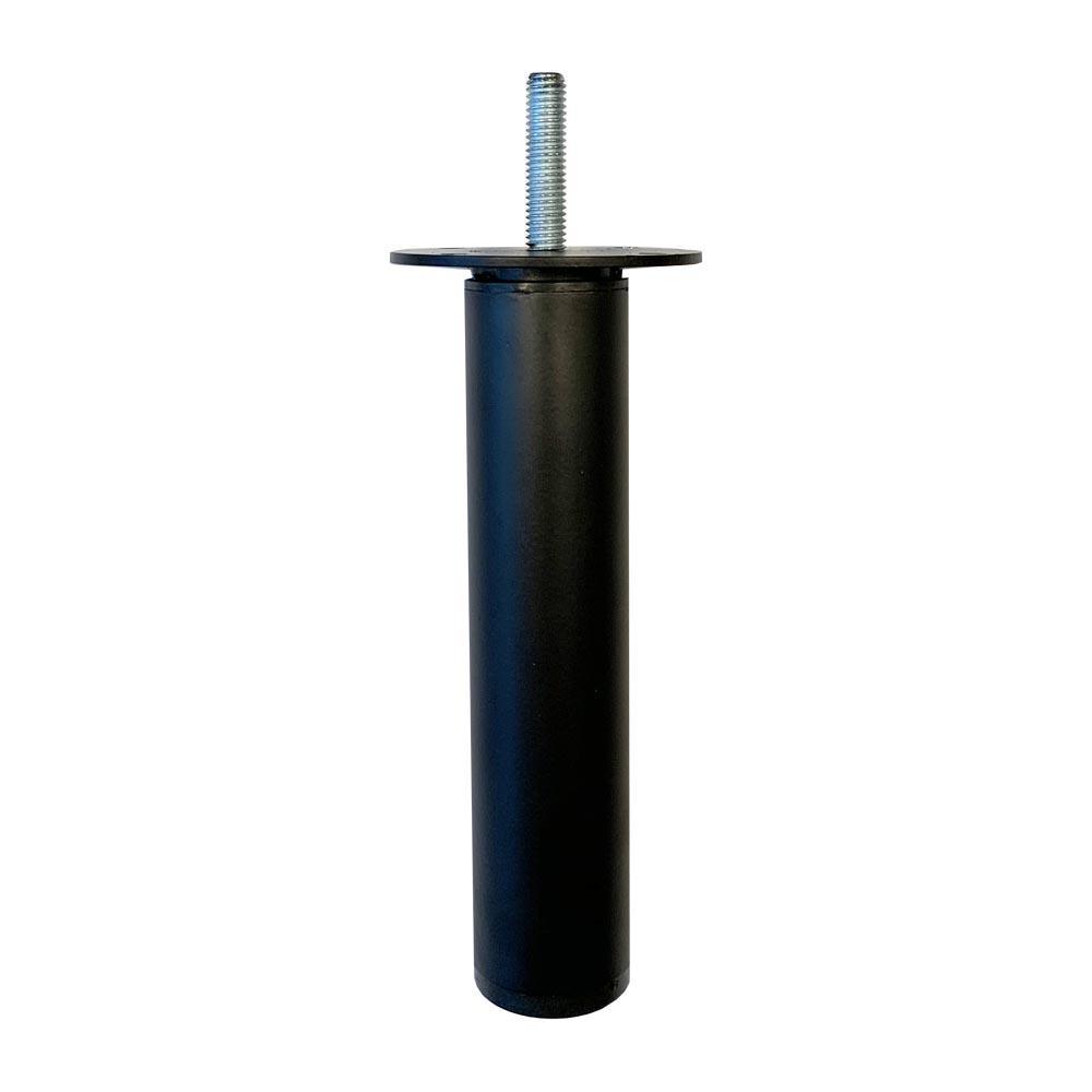 Ronde verstelbare zwarte meubelpoot 14,5 cm (M8)