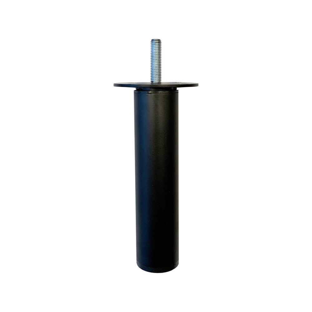 Ronde verstelbare zwarte meubelpoot 11,5 cm (M8)