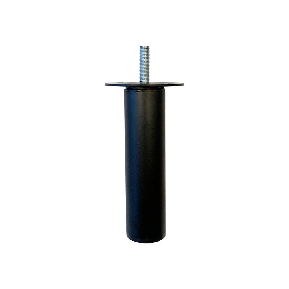 Ronde verstelbare zwarte meubelpoot 9,5 cm (M8)