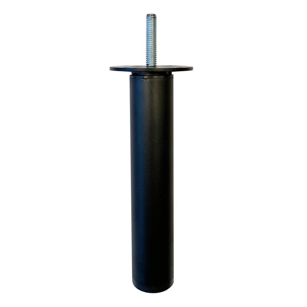 Ronde verstelbare zwarte meubelpoot 17,5 cm (M8)