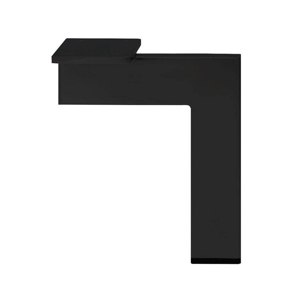 Zwarte design hoek meubelpoot 21 cm