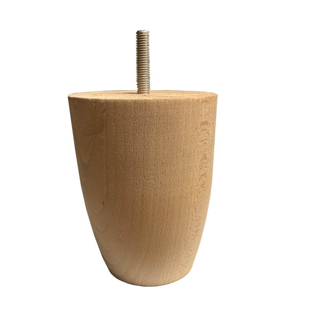 Blank onbehandelde houten ronde meubelpoot 12 cm (M8)