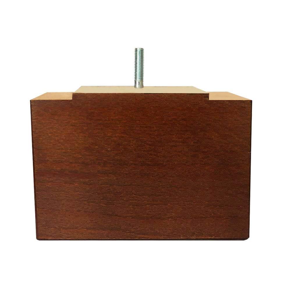 Rechthoekige kersen houten meubelpoot 11 cm (M8)