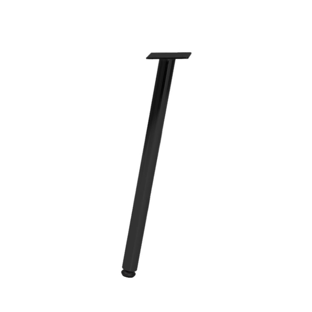 Zwarte ronde meubelpoot 36 cm