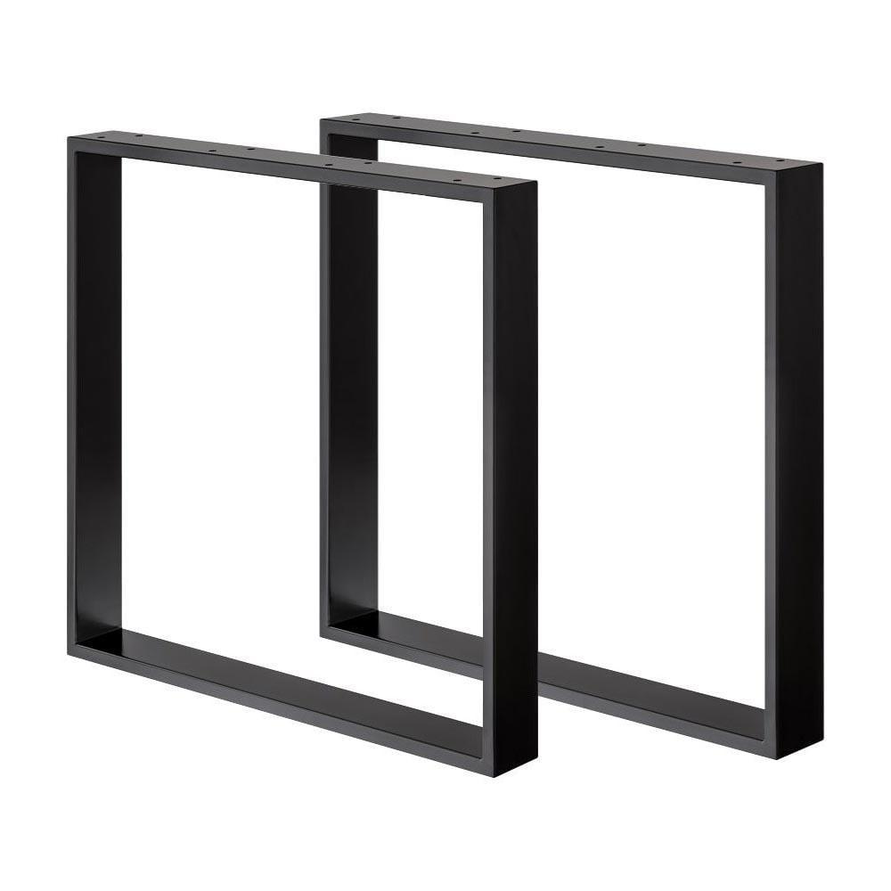 Set zwarte U tafelpoten 72 cm (koker 8 x 2)