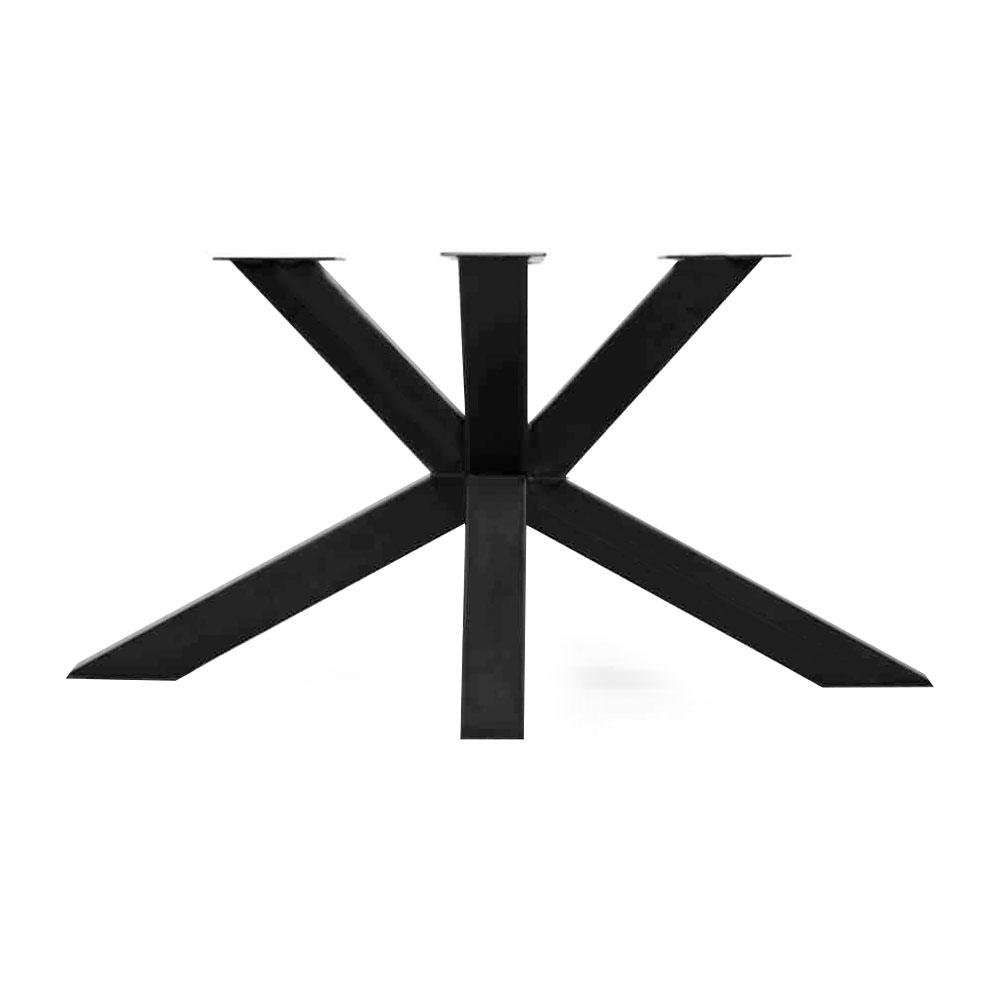 Zwarte matrix tafelonderstel 73 cm (koker 10 x 10)