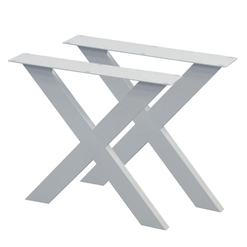 Set witte X tafelpoten 72 cm (koker 10 x 4)
