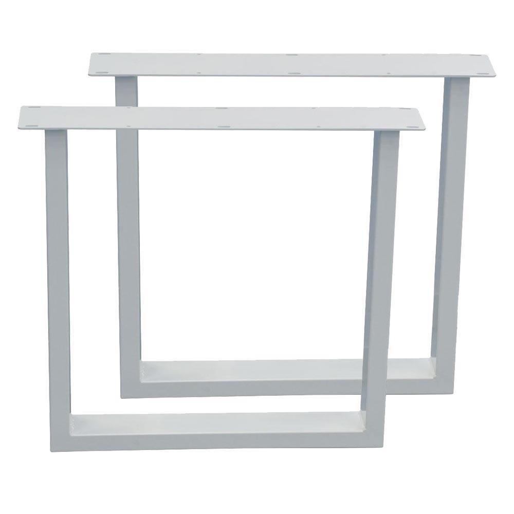 Set witte U tafelpoten 72 cm (koker 10 x 4)