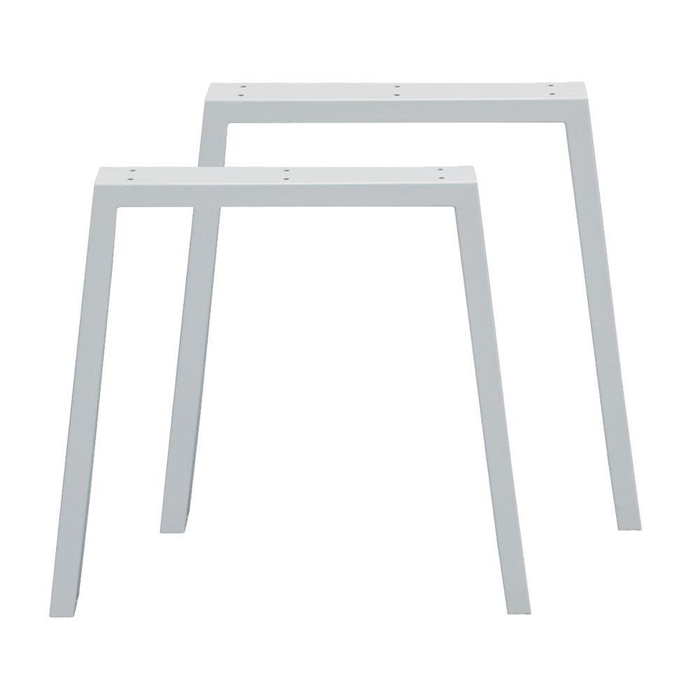 Set witte trapezium tafelpoten 72 cm (koker 10 x 4)