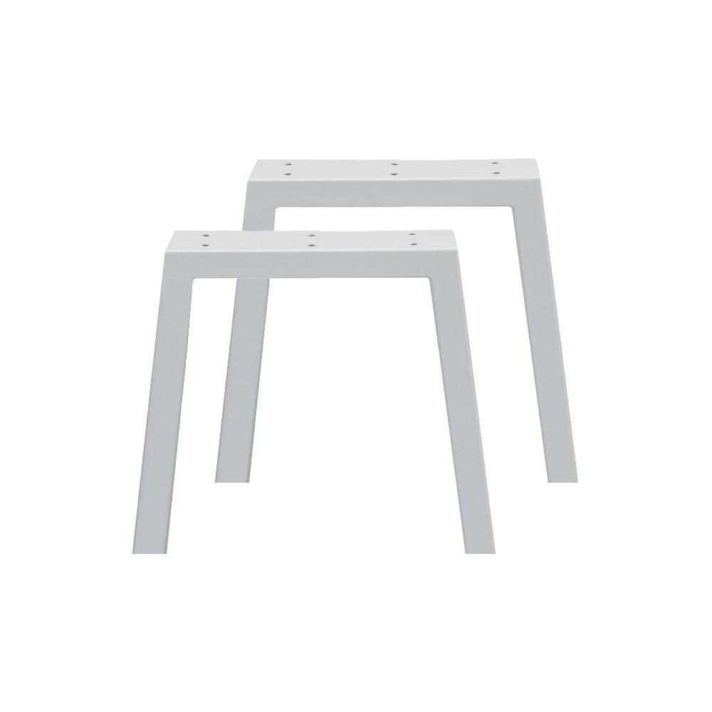 Set witte trapezium tafelpoten 40 cm (koker 10 x 4)