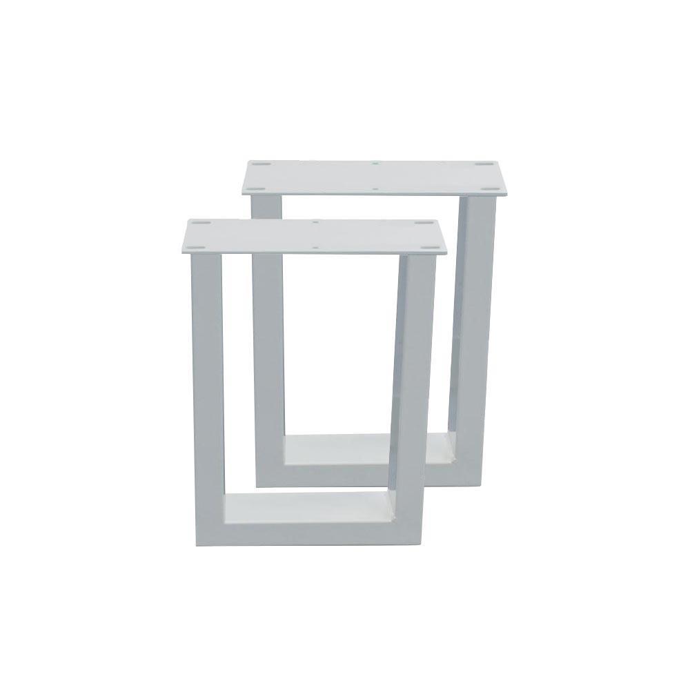 Set witte U tafelpoten 40 cm (koker 10 x 4)