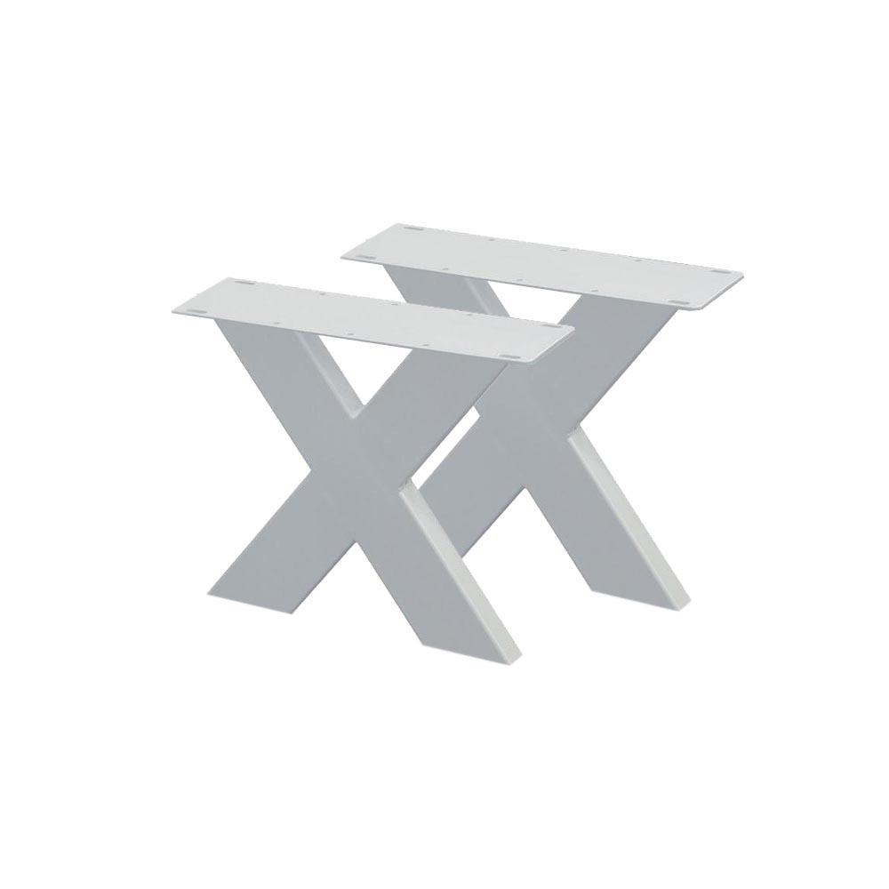 Set witte X tafelpoten 40 cm (koker 10 x 4)