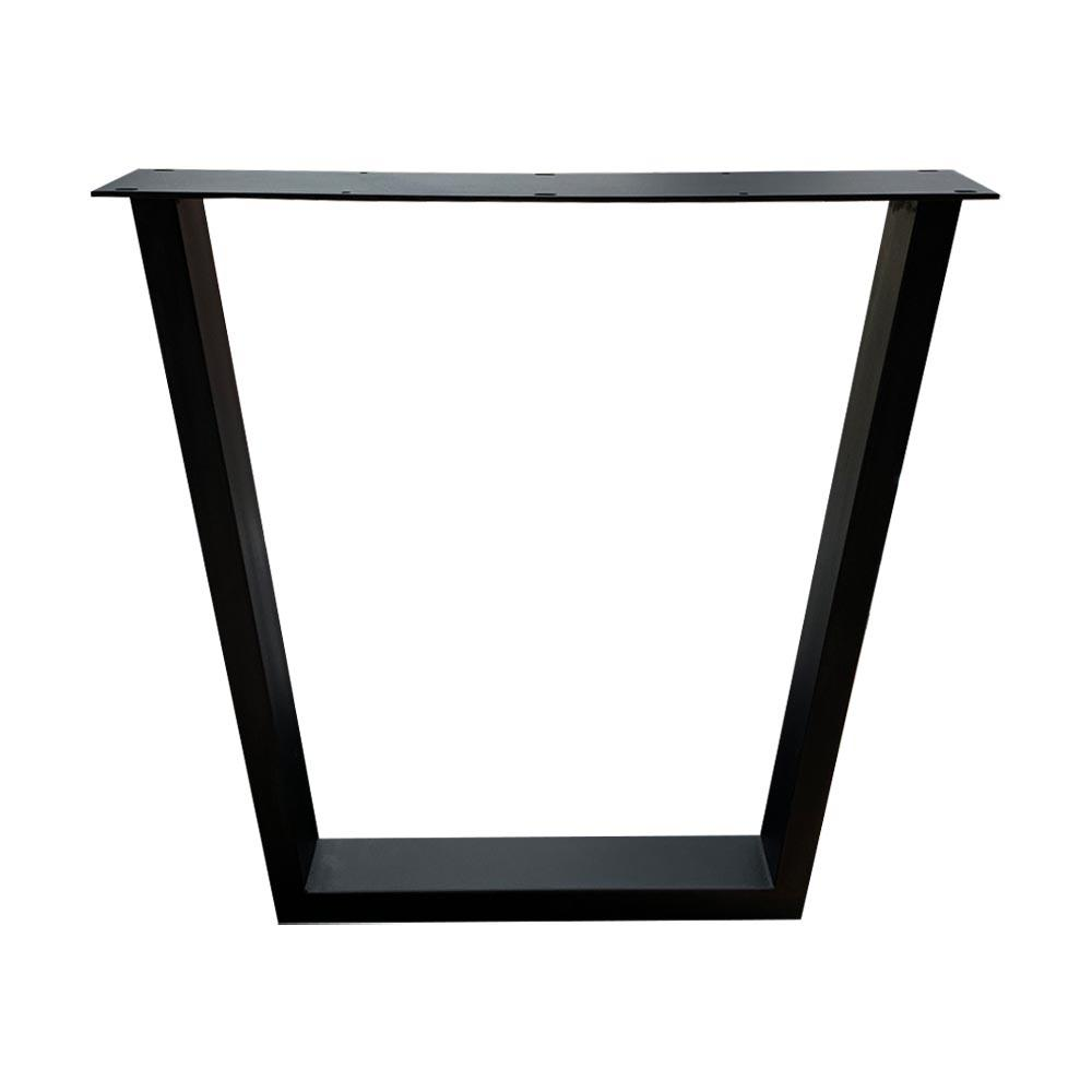 Set zwarte trapezium tafelpoten 72 cm (koker 10 x 4)