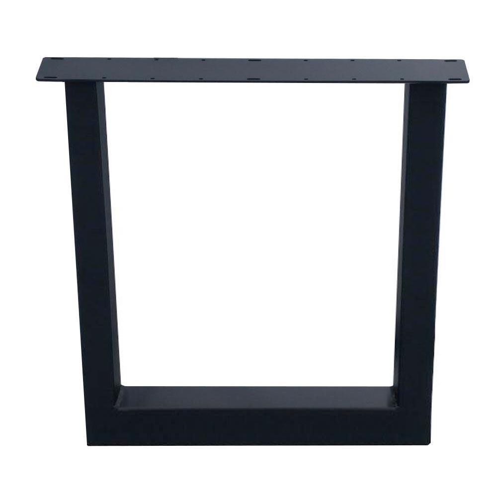 Zwarte U tafelpoot 72 cm (koker 10 x 10)