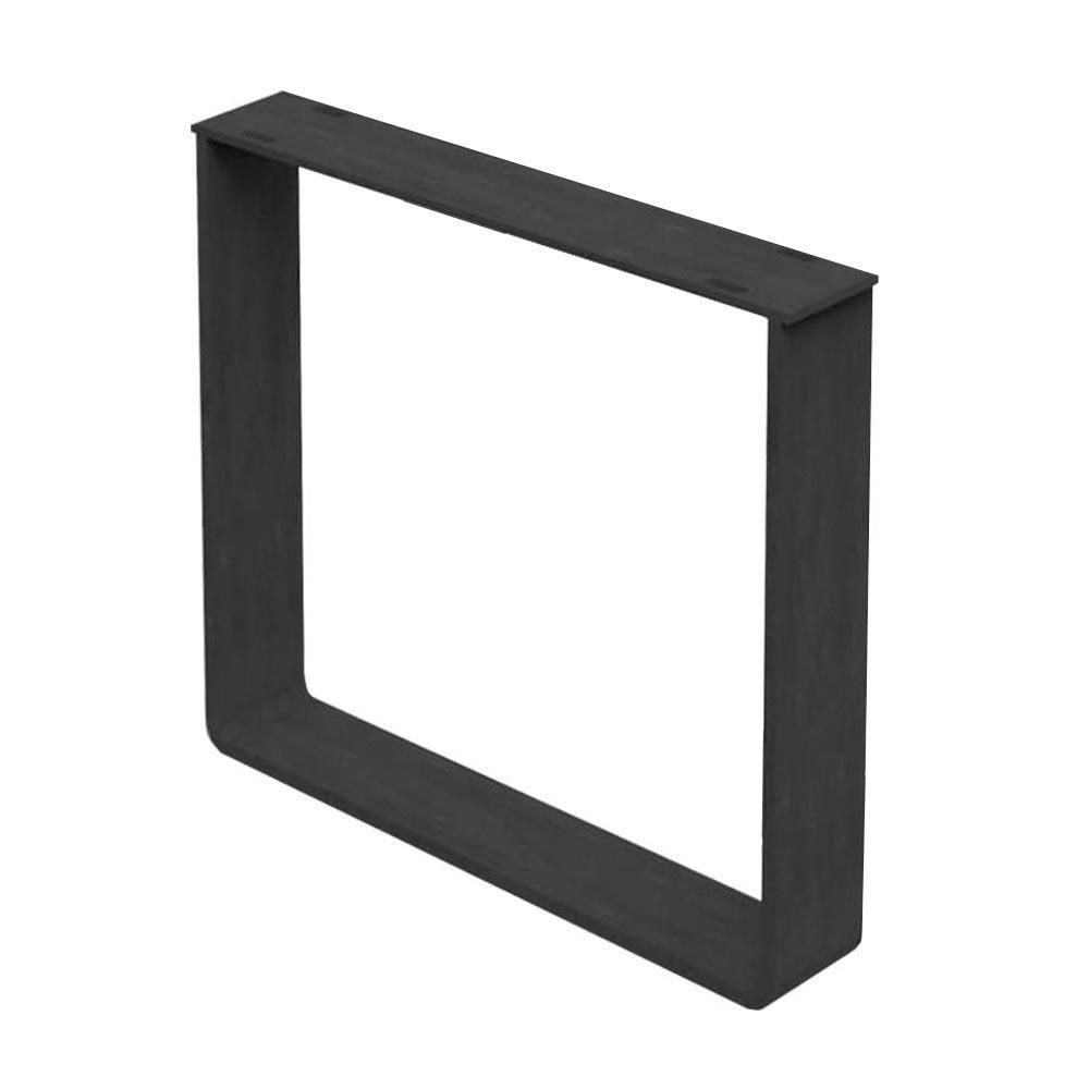 Zwarte massief stalen U tafelpoot 72 cm (koker 8 x 1)