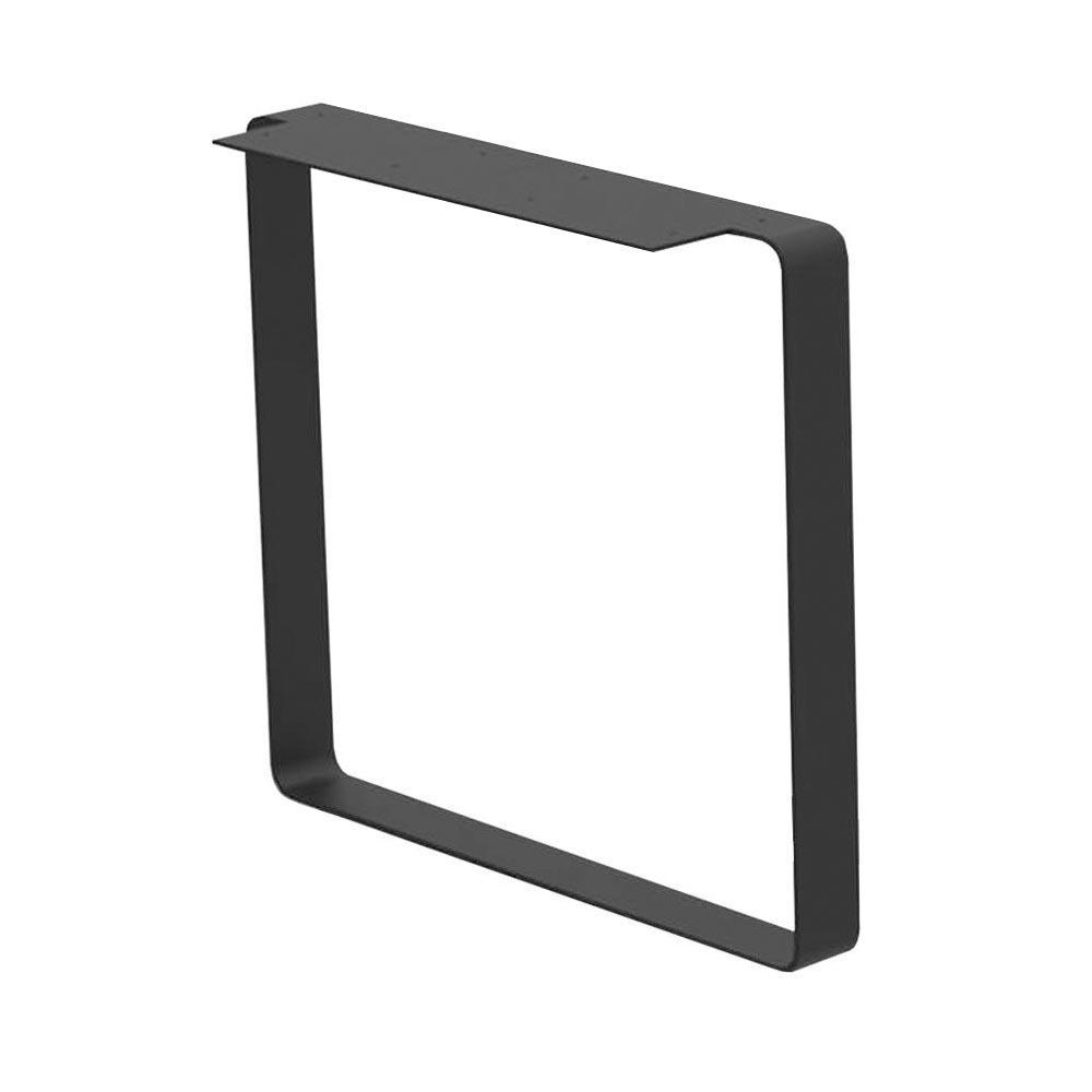 Zwarte massief stalen U tafelpoot 71 cm (koker 80 x 8 mm)