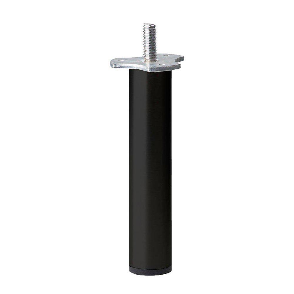 Zwarte ronde meubelpoot 17 cm (M8)