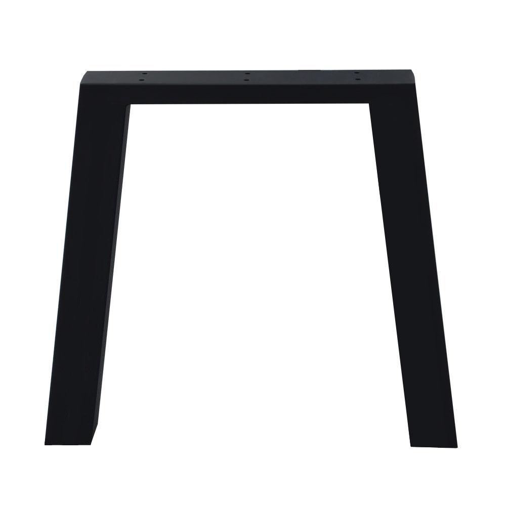 Zwarte trapezium tafelpoot 72 cm (koker 10 x 10)