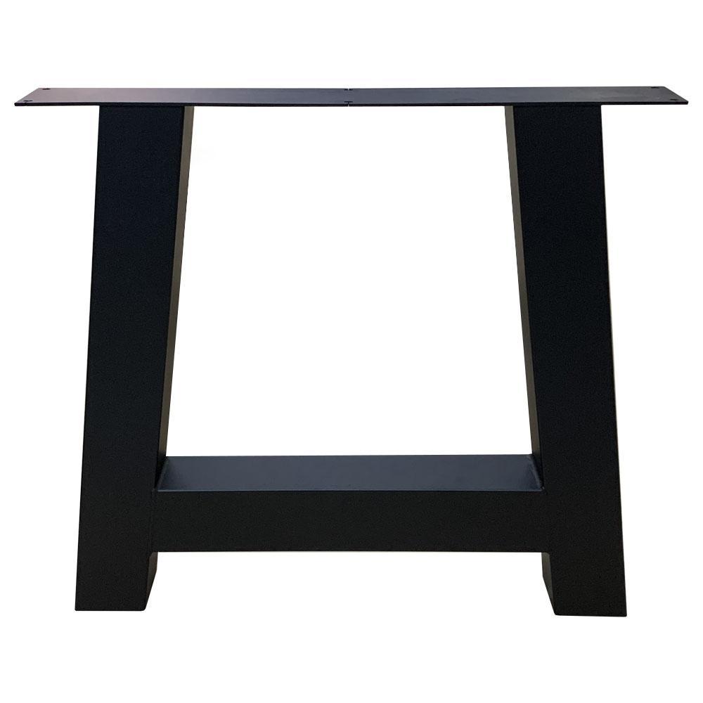 Zwarte A tafelpoot 72 cm met stelvoeten (koker 10 x 10 cm)