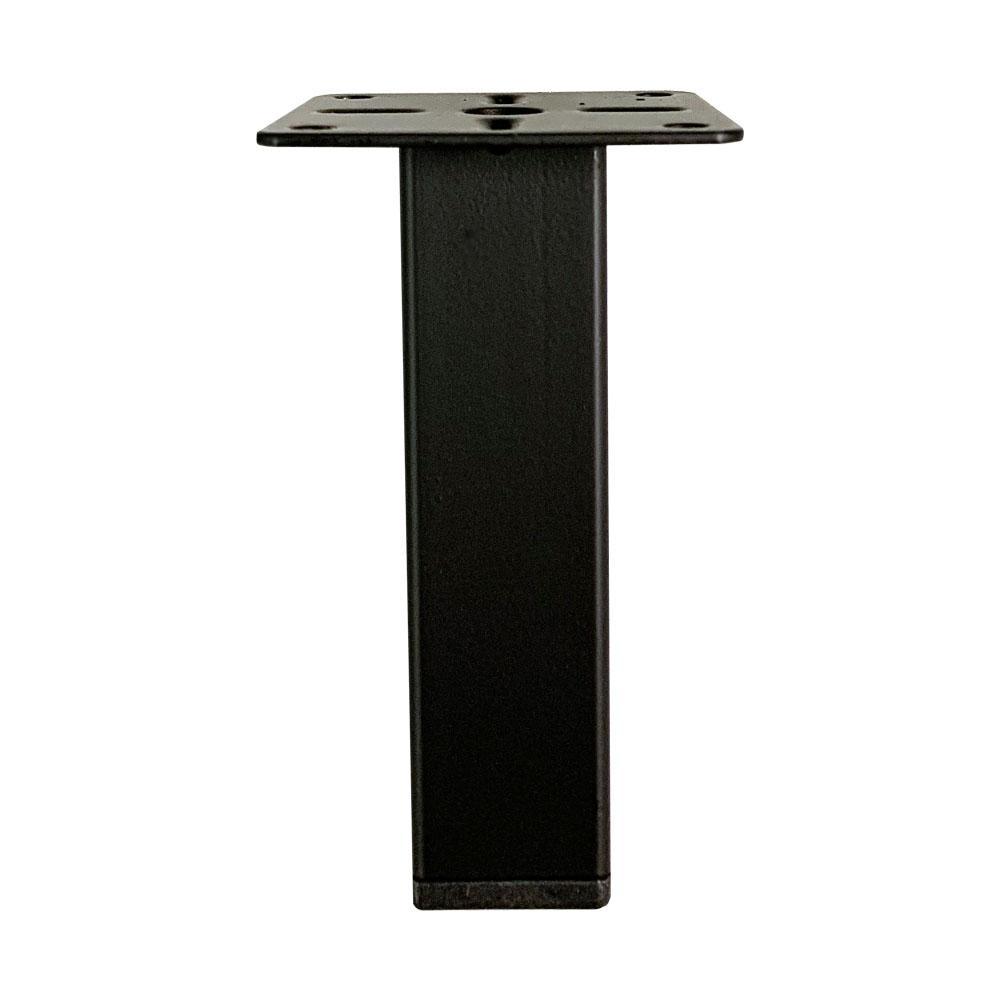 Zwarte vierkanten meubelpoot 10 cm