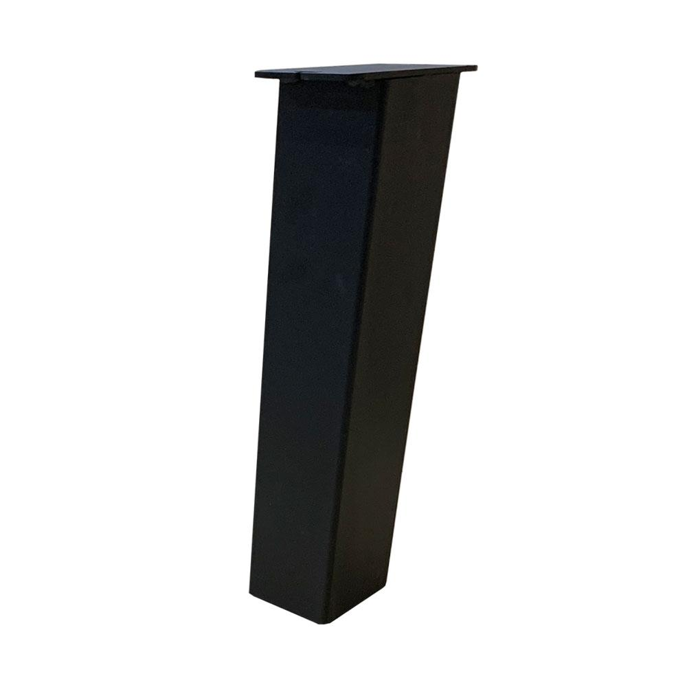 Set 4 zwarte schuine tafelpoten 40 cm (koker 8 x 8 cm)